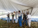 Raising the 800-seat concert hall tent takes know-how and skill.