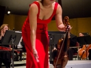 Violinist Livia Sohn received enthusiastic applause for her performance with the Mendocino Music Festival Orchestra conducted by Allan Pollack.
