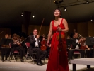 Violinist Livia Sohn with the Mendocino Music Festival Orchestra conducted by Allan Pollack.