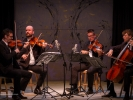 The Calder Quartet performed in the concert hall tent Monday afternoon.