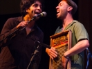 Honeydrops co-founder and drummer Ben Malament on washboard.