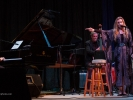 Tierney Sutton sits in with the Festival New Jazz Trio and gives credit to Julian Pollack on piano.