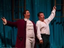 Count Almaviva (Chester Pidduck) and Figaro the barber (Eugene Brancoveanu) in The Barber of Seville