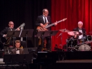 Left wing of the MMF Big Band with Ray Scott, Julian Pollack, Alex Baum, and Ralph Humphrey