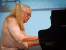 Susan Waterfall at the piano in  Mozart In Mendocino
