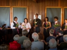 YMCO singers with bouquets