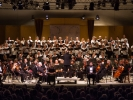"Panorama view of the full MMF Orchestra and Chorus performing the Brahms ""German Requeim"" with 220 people on stage and 800 in the house."