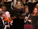 Soprano soloist Angela Cadelago in the Brahms Requiem