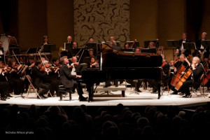 Pianist Stephen Prutsman performs with the Mendocino Music Festival Orchestra